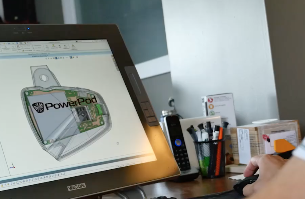 Powerpod Power Meter Computer rendering