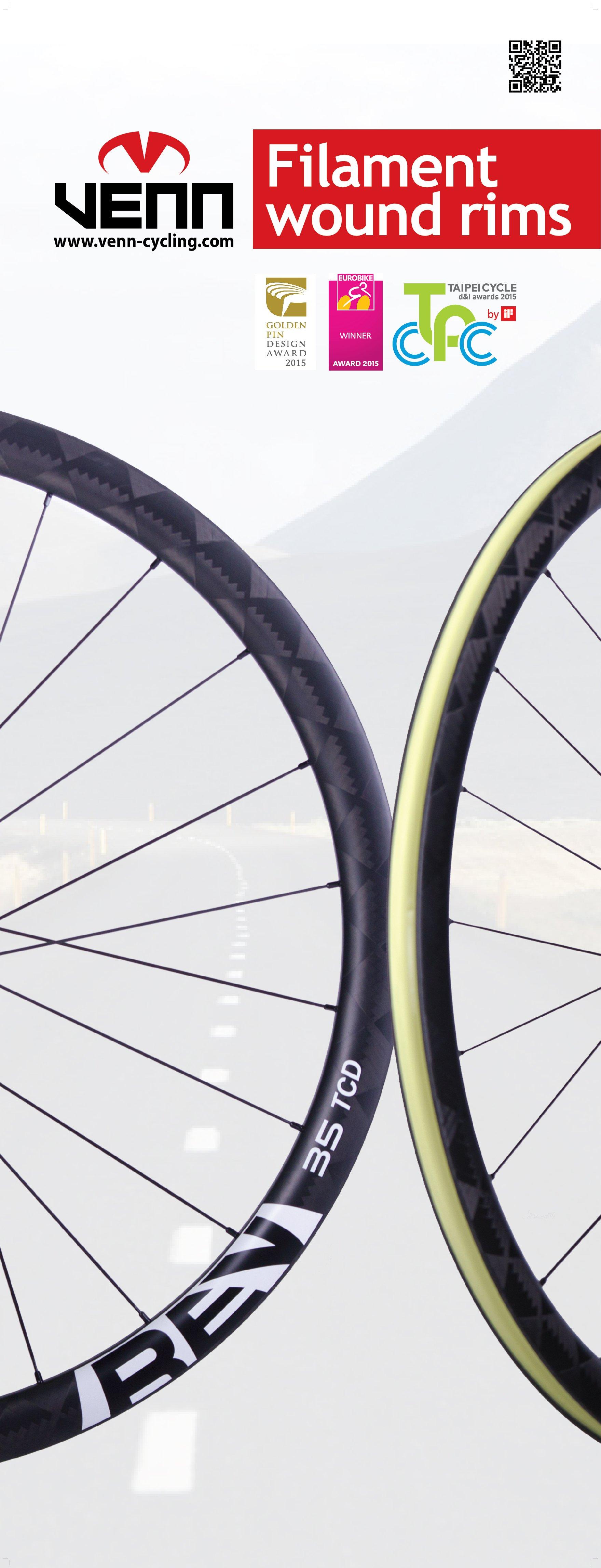 Venn REV Carbon wheels winner of many awards.