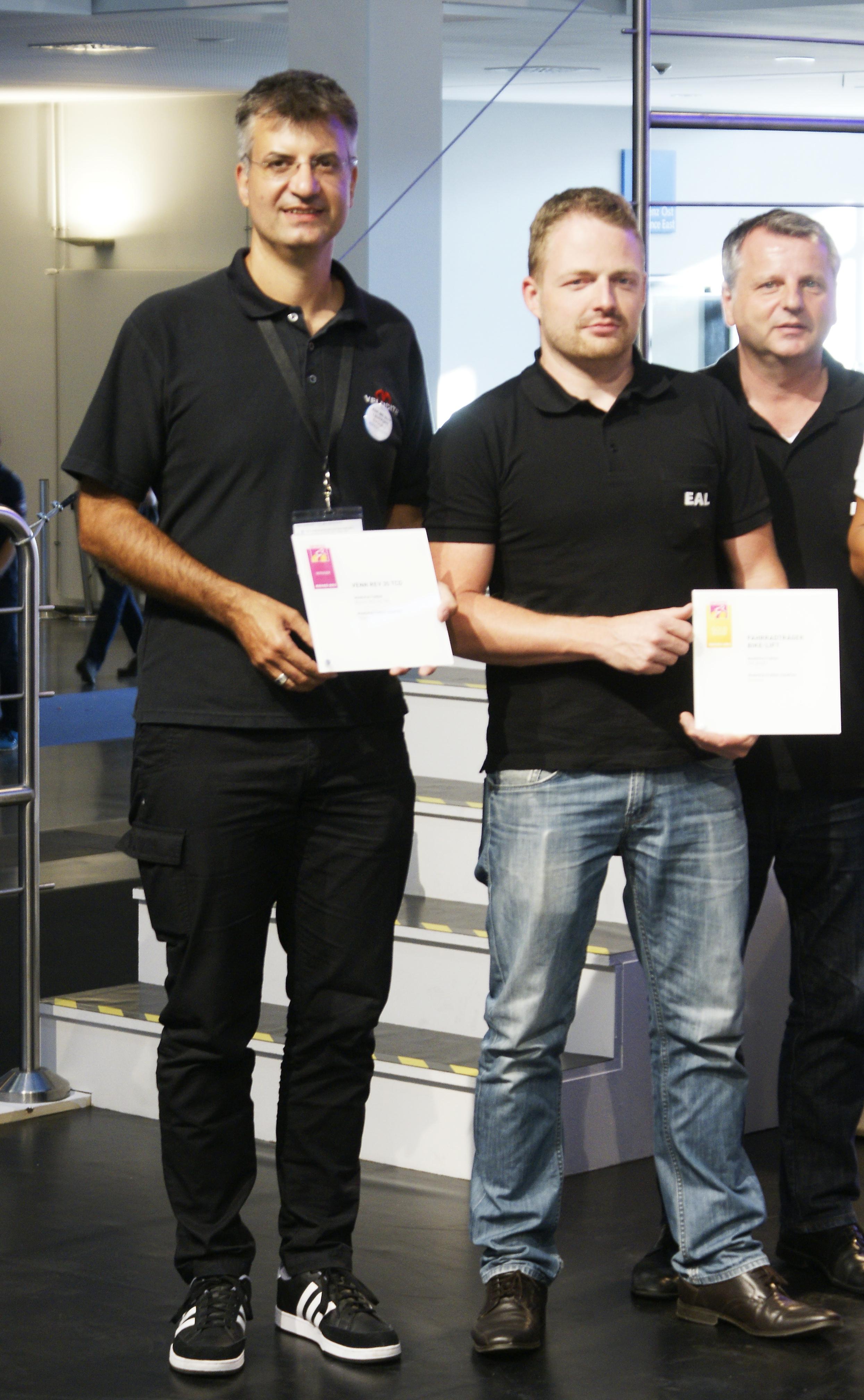 Victor Major winner of best product at Eurobike 2015 for his Venn REV Carbon wheels.